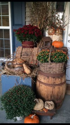 Easy But Inspiring Outdoor Fall Decoration Ideas 19
