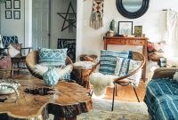 Modern Rustic Bohemian Living Room Design Ideas 72
