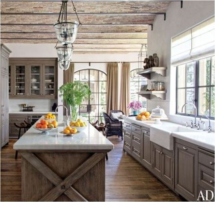 Beautiful Farmhouse Style Rustic Kitchen Cabinet Decoration Ideas 01