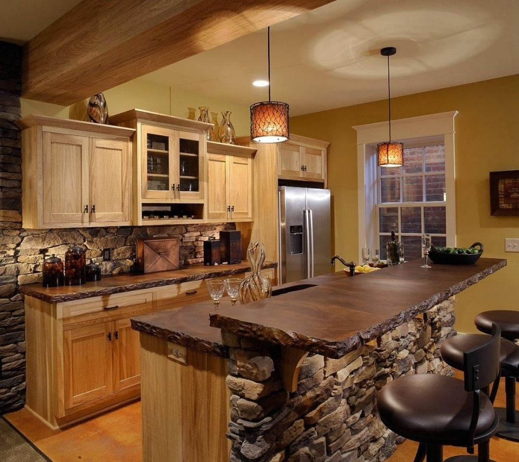 Beautiful Farmhouse Style Rustic Kitchen Cabinet Decoration Ideas 34