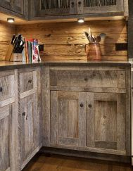Beautiful Farmhouse Style Rustic Kitchen Cabinet Decoration Ideas 55