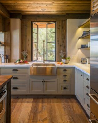 Beautiful Farmhouse Style Rustic Kitchen Cabinet Decoration Ideas 59