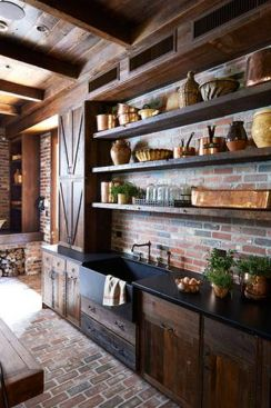 Beautiful Farmhouse Style Rustic Kitchen Cabinet Decoration Ideas 78