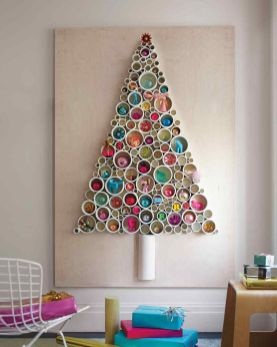Easy And Creative DIY Christmas Tree Design Ideas You Can Try As Alternatives 77