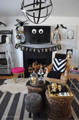 Inspiring Halloween Decoration Ideas For Your Apartment 68