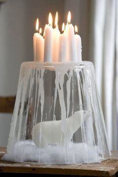 Inspiring Modern Rustic Christmas Centerpieces Ideas With Candles 07
