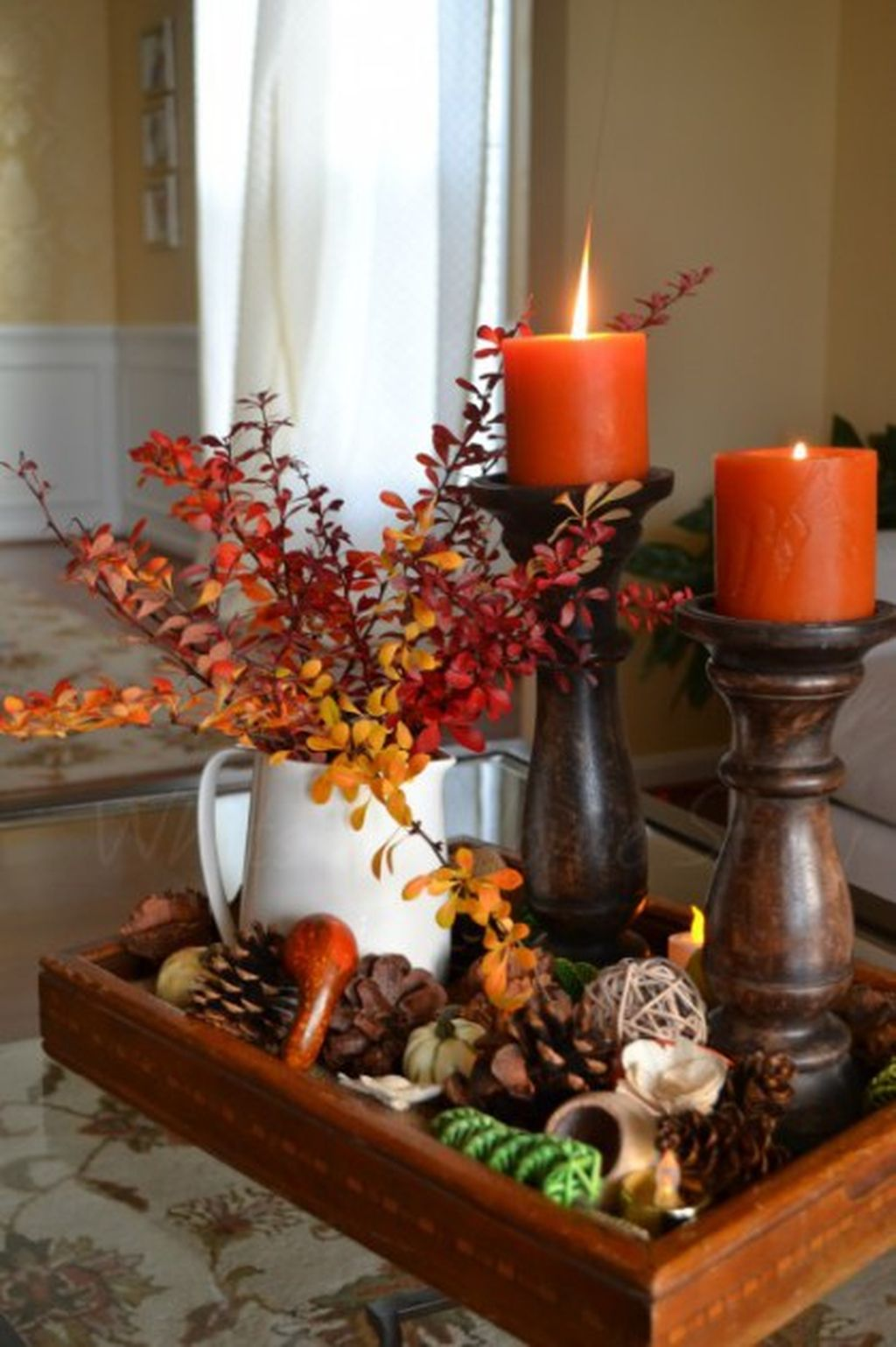 Inspiring Modern Rustic Christmas Centerpieces Ideas With Candles 84