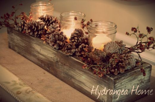Inspiring Modern Rustic Christmas Centerpieces Ideas With Candles 90