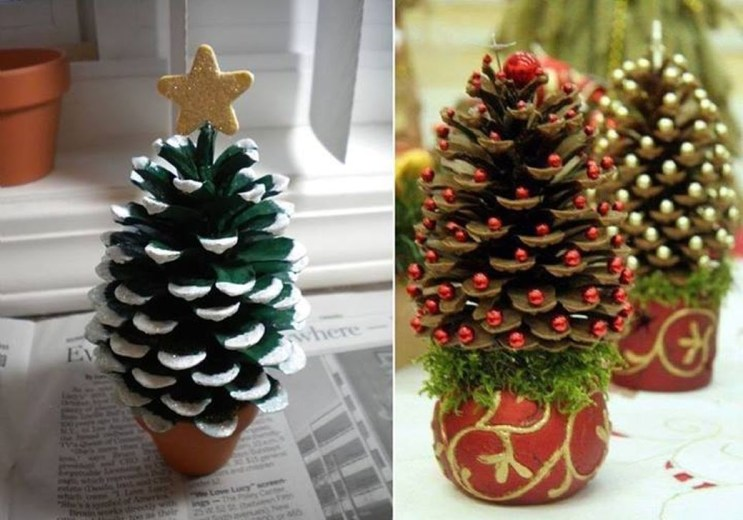 Inspiring Pine Cones Christmas Decoration Ideas 32
