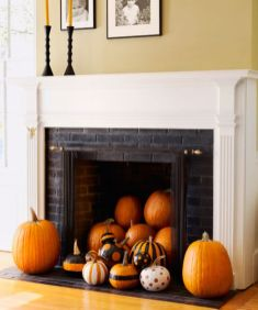 Scary But Classy Halloween Fireplace Decoration Ideas 26