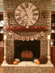 Scary But Classy Halloween Fireplace Decoration Ideas 38