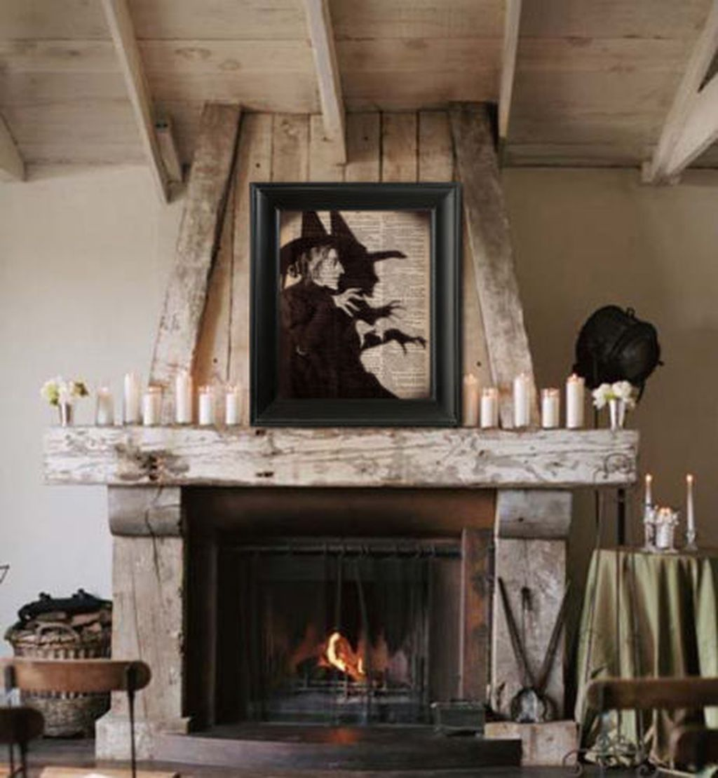 Scary But Classy Halloween Fireplace Decoration Ideas 56