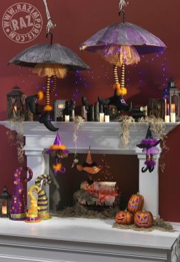 Scary But Classy Halloween Fireplace Decoration Ideas 57