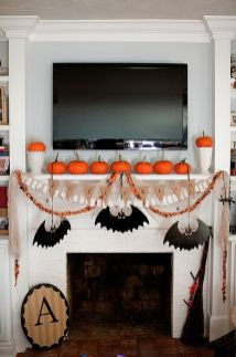 Scary But Classy Halloween Fireplace Decoration Ideas 87