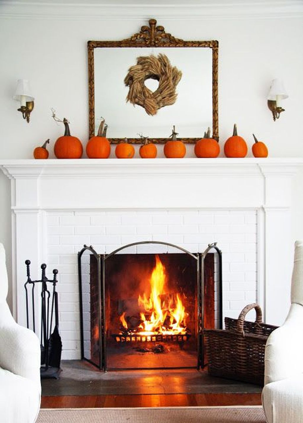 Scary But Classy Halloween Fireplace Decoration Ideas 95