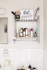 Simple And Clean Apartment Bathroom Decoration Ideas Suitable For You Who Living With Roomates 45
