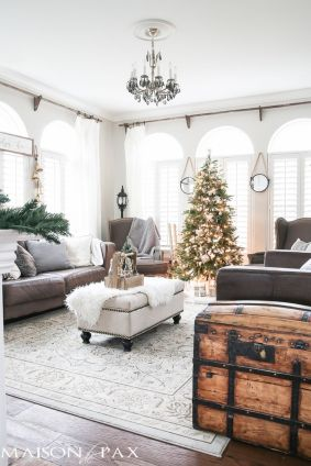 Stunning White Vintage Christmas Decoration Ideas 80