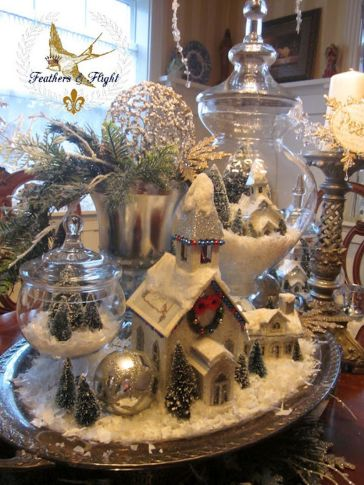 Stunning White Vintage Christmas Decoration Ideas 88