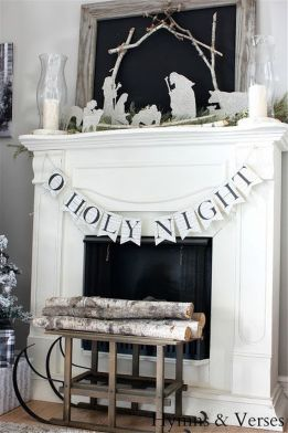 Stunning White Vintage Christmas Decoration Ideas 97