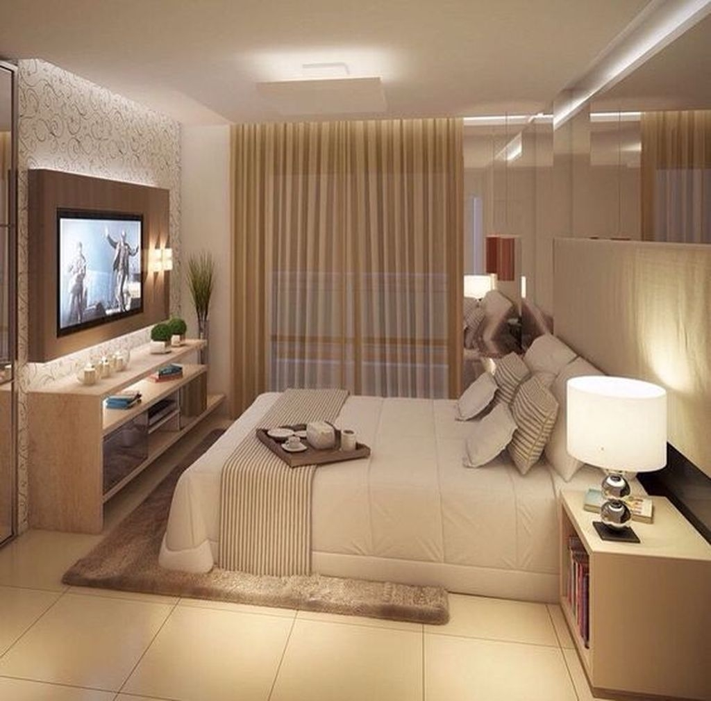 Totally Brilliant Bedroom Design Ideas For Small Apartment 42