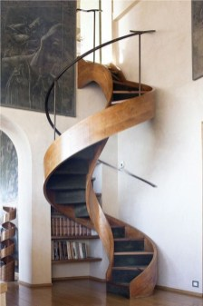 Totally Inspiring Residential Staircase Design Ideas You Can Apply For Your Home 86