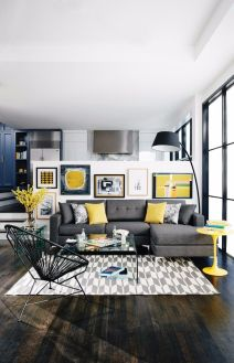 Totally Outstanding Sectional Sofa Decoration Ideas With Lamps 79