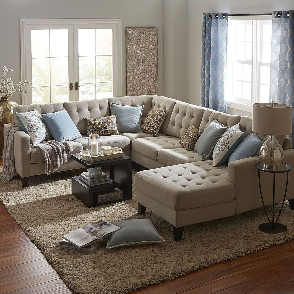 Totally Outstanding Sectional Sofa Decoration Ideas With Lamps 99