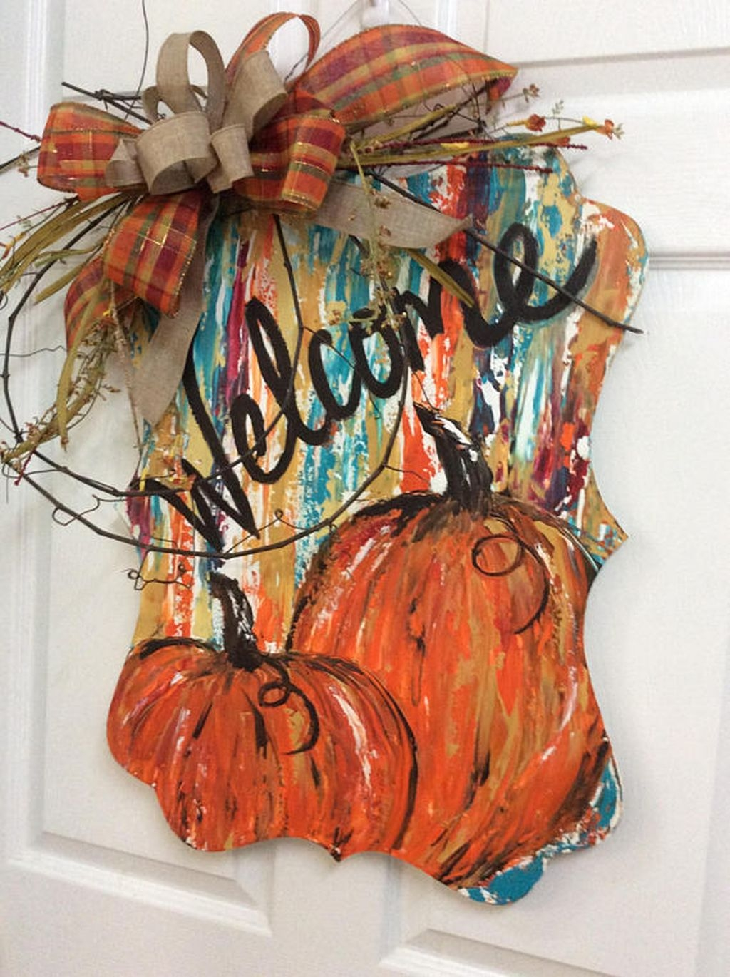 Cozy Thanksgiving Front Door Decor Ideas02