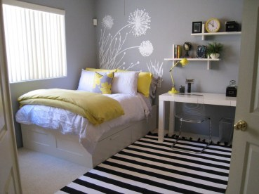 Creative And Brilliant Small Bedroom Decoration Ideas04