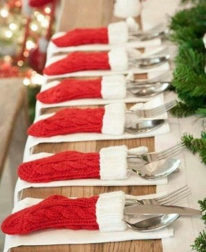 Elegant Table Christmas Decoration Ideas 16