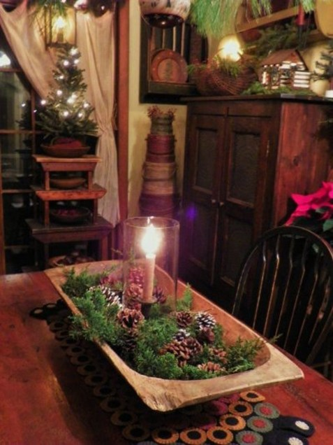 Romantic Christmas Centerpieces Ideas With Candles 06