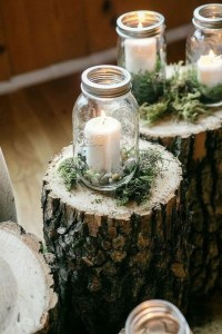 Romantic Christmas Centerpieces Ideas With Candles 28