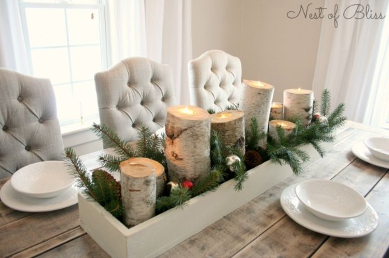 Romantic Christmas Centerpieces Ideas With Candles 30
