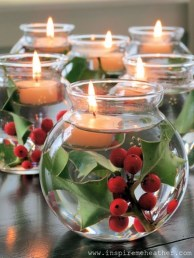 Romantic Christmas Centerpieces Ideas With Candles 52