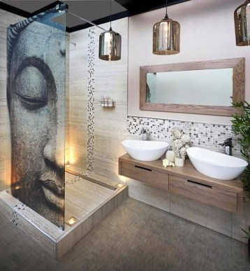 Cool Rustic Modern Bathroom Remodel Ideas 18