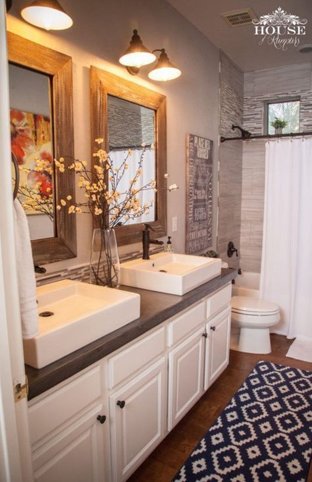 Cool Rustic Modern Bathroom Remodel Ideas 20