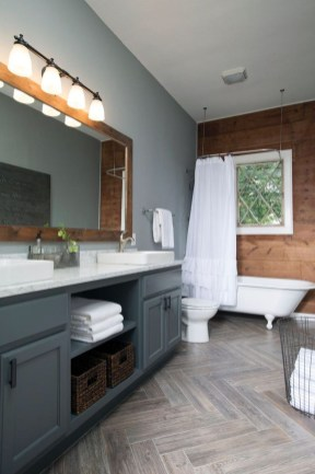 Cool Rustic Modern Bathroom Remodel Ideas 36