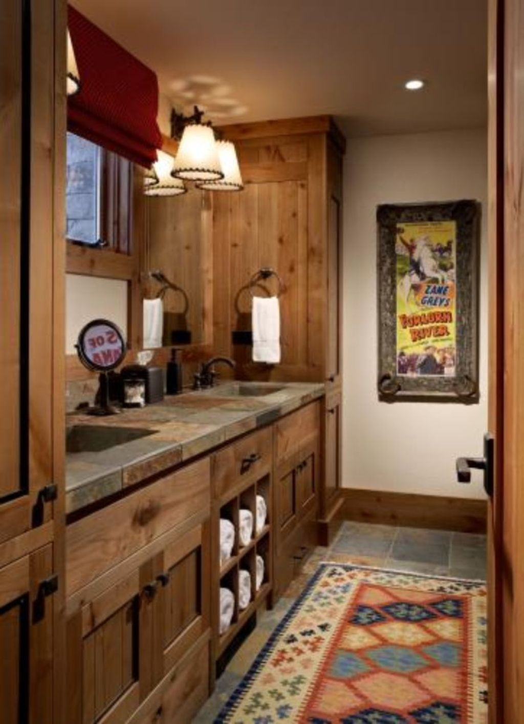 Cool Rustic Modern Bathroom Remodel Ideas 37