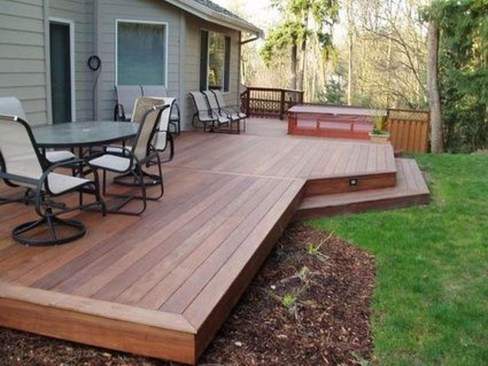 Gorgeous Wooden Deck Porch Design Ideas 01