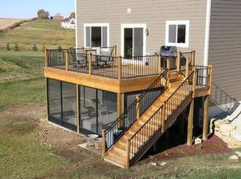 Gorgeous Wooden Deck Porch Design Ideas 10