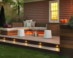 Gorgeous Wooden Deck Porch Design Ideas 23