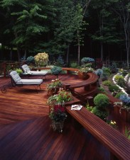 Gorgeous Wooden Deck Porch Design Ideas 27