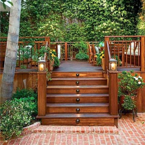 Gorgeous Wooden Deck Porch Design Ideas 37