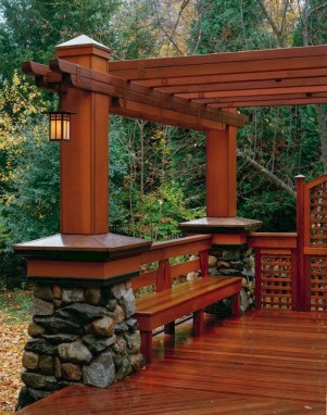 Gorgeous Wooden Deck Porch Design Ideas 46