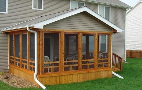 Gorgeous Wooden Deck Porch Design Ideas 48