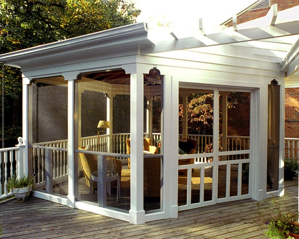 Gorgeous Wooden Deck Porch Design Ideas 50