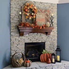 Inspiring Rustic Fall Mantel Decoration Ideas 12