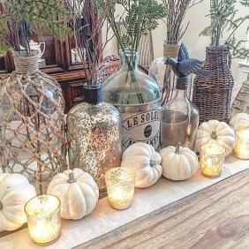 Inspiring Rustic Fall Mantel Decoration Ideas 20