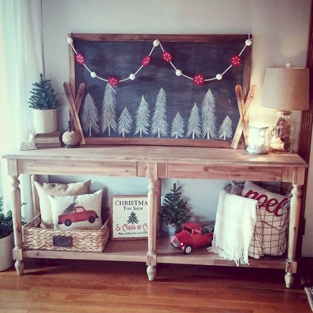 Inspiring Winter Entryway Decoration Ideas 04