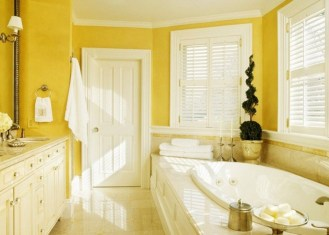 Lovely Sunny Yellow Bathroom Design Ideas 04